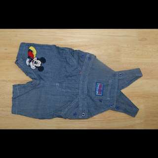 DISNEY used baby overall+romper