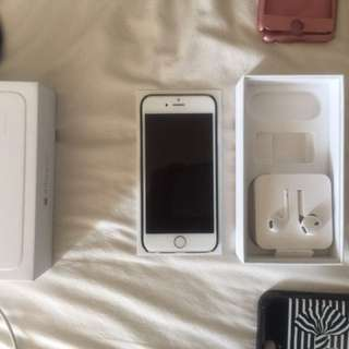 Gold iPhone 6; comes with original box + accessories