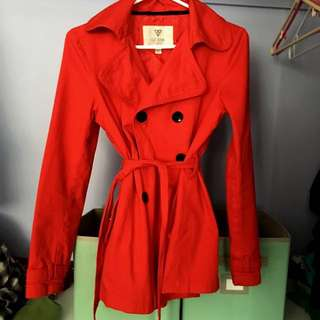 XS New Red Guess Trench coat