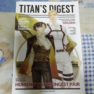 [ATTACK ON TITAN/SHINGEKI NO KYOJIN] Artbook/Doujin -- Titan's Digest