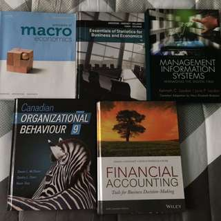 9 FIRST YEAR BBA TEXTBOOKS FOR SALE