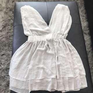 Grey flow dress