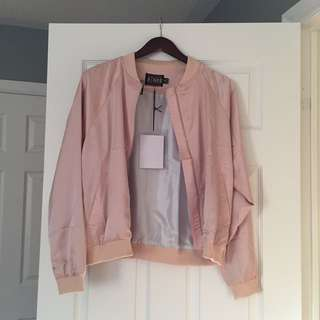 BRAND NEW NastyGal silk bomber S/M (bought for ~$70)
