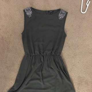 Beaded cap sleeved Zara dress