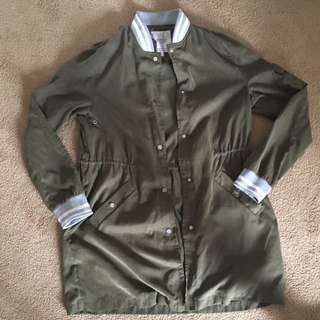 Olive Green Zara Fall Coat