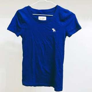 A&F 寶藍色T恤