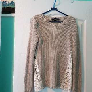 F21 Lace Sweater