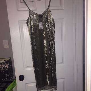 Green Velvet Dress From Forever 21