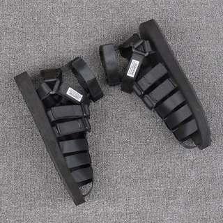 夏季日系個性包頭涼鞋男潮流韓版女情侶羅馬鞋大碼高邦羅馬沙灘鞋