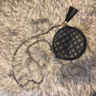Cute black circle purse