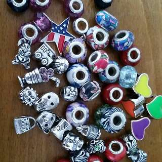 Assorted Charms For Pandora Style Bracelets