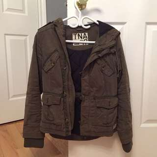 TNA army green fall jacket (XS)