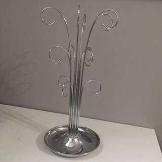 Silver jewelry stand