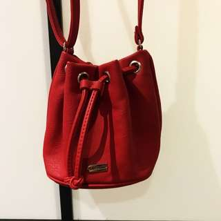 Red Mini Red Bucket Bag