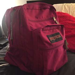 Fuhsia Jansport Backpack
