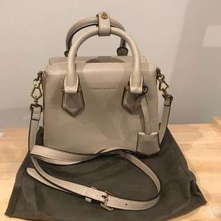 Charles & Keith Top Handle Box Bag in Nude (S)