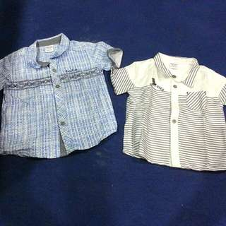 Preloved 2pcs Baby Kiko Shirts For Baby Boy