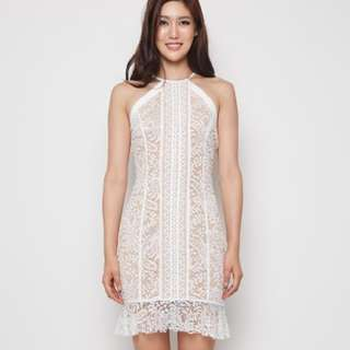 BNWT MDS Lace Dress In White Size S