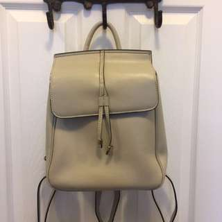 Danier leather backpack - cream
