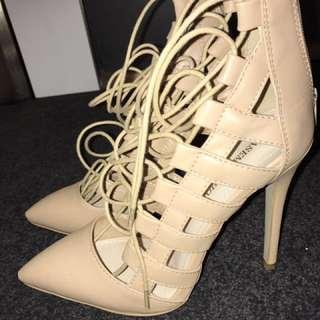 Basement HQ nude heels size 9
