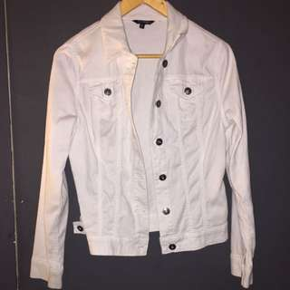 White denim jacket size xs