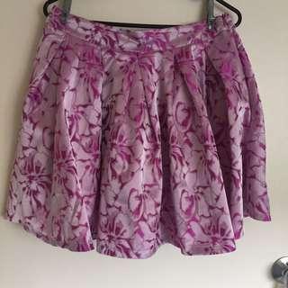 Boohoo pink skirt