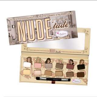 100% Authentic Nude tude thebalm eyeshadow palette