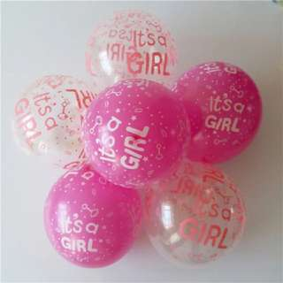 IT'S A GIRL LATEX HELIUM BALLOONS