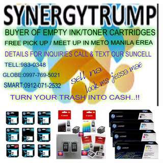 buyer of empty ink toner overstocked cartridges