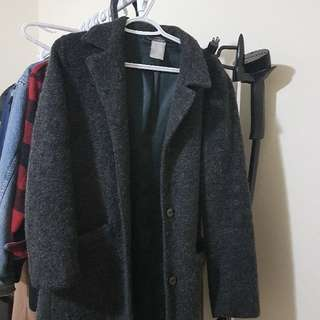 Le Chateau Charcoal Grey Trench Coat