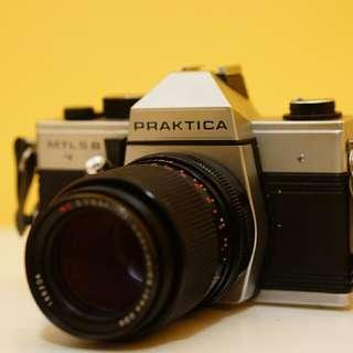 Carl Zeiss Sonnar 135mm f3.5 with Praktica MTL 5B Film Camera