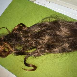 Synthetic Human Hair Extension