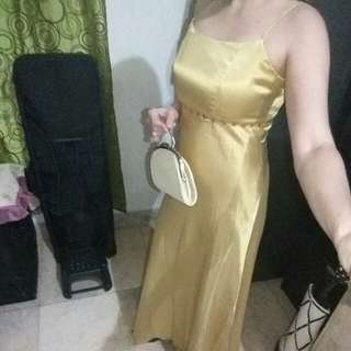 Repriced >Long Gown with Clutch