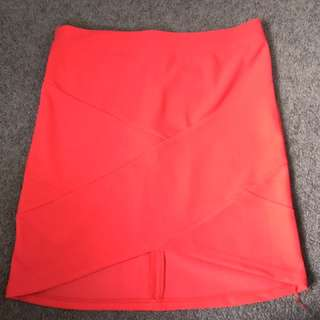 Red tight skirt