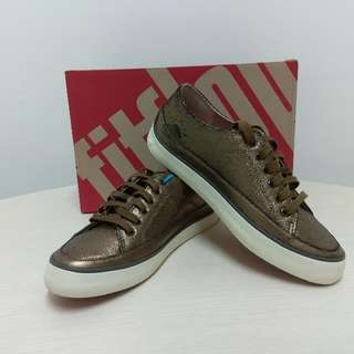Disc 85% Fitflop Sneakers Cracked Series Bronze Size 38
