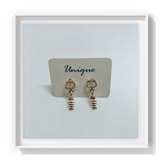 Earrings - Fish Bone