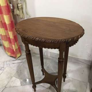 Hand crafted Balinese teak wood side table