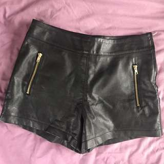 Dotti Leather Shorts