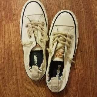 Off White Converse Women's Size 6