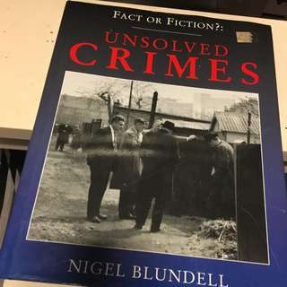 Fact Or Fiction Unsolved Crimes Book