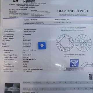 💗IGI 1.04卡 D 色 I1 EX EX EX NON Diamond ICQ 💎卡裝鑽石戒指 夠體面 夠白夠閃 兩萬鬆