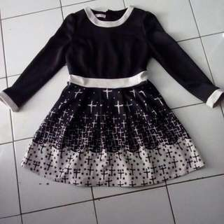 Dress Bahan Wedges (Tebal)