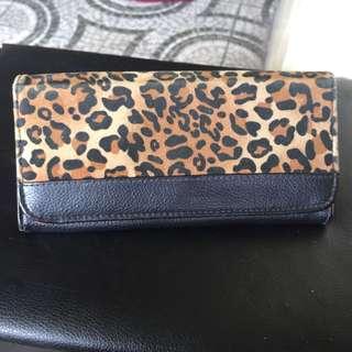 Leopard long wallet