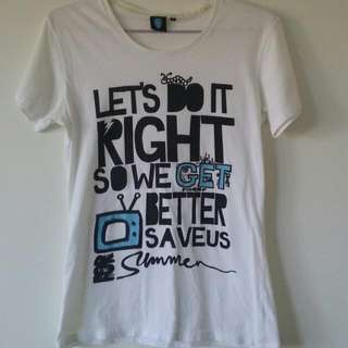 Save Us For Summer Band Shirt (Ladies Size Medium)