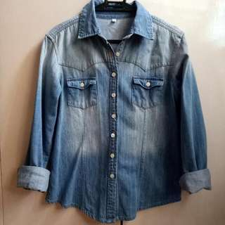 Denim Longsleeves Top