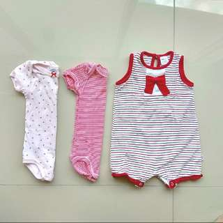 BUNDLE CUTE FRENCH BABY ROMPERS PINK GIRL