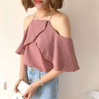 [INSTOCKS] COLLAR OFF SHOULDER TOP