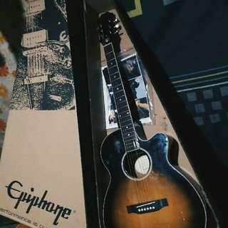 EPIPHONE Acoustic Electric Guitar With Pick Up. Complete Set. Brand New. Original Price 13k Sale Nalang Ug 10k.
