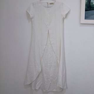 White Slit Dress by N.y.L.a