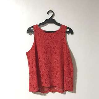 Unica Hija Sleeveless Lace Top